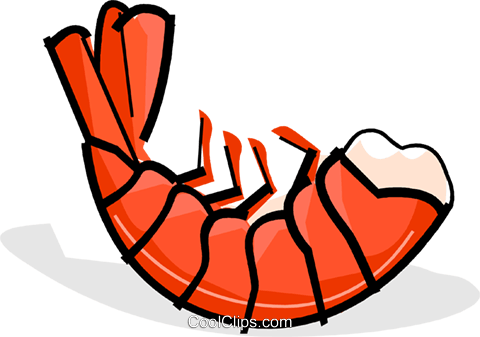 shrimp Royalty Free Vector Clip Art illustration vc061824