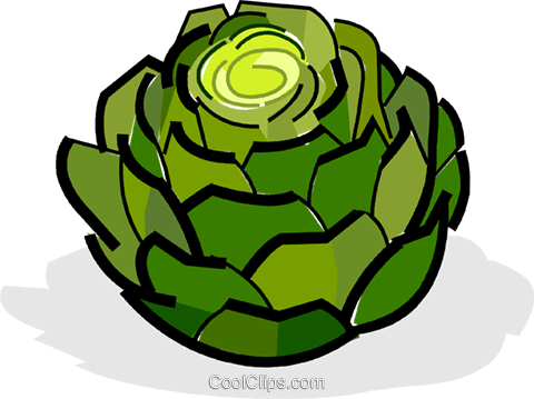artichokes Royalty Free Vector Clip Art illustration vc061836
