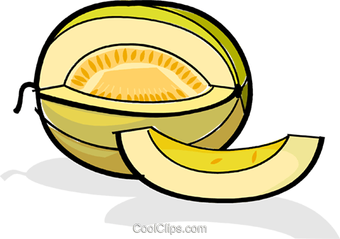 melon slices Royalty Free Vector Clip Art illustration vc061837