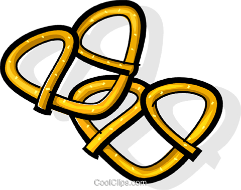 pretzel Royalty Free Vector Clip Art illustration vc061838