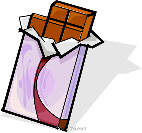 chocolate bar Royalty Free Vector Clip Art illustration vc061842