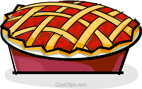 cherry pie Royalty Free Vector Clip Art illustration vc061849