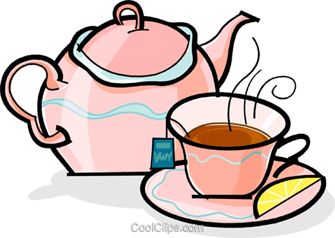 Teapot and cup of tea Royalty Free Vector Clip Art illustration vc061853