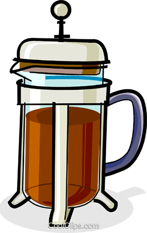 coffee maker Royalty Free Vector Clip Art illustration vc061859
