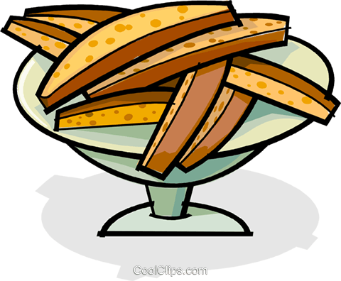 dessert on a serving tray Royalty Free Vector Clip Art illustration vc061864