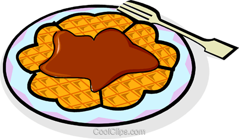 breakfast waffle Royalty Free Vector Clip Art illustration vc061869