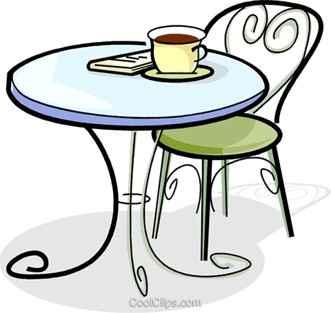 kaffeetasse auf einem tisch vektor clipart bild vc061870. Black Bedroom Furniture Sets. Home Design Ideas