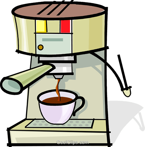 coffee maker Royalty Free Vector Clip Art illustration vc061883