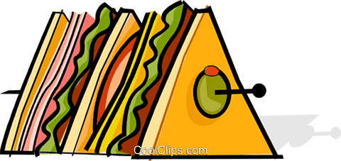 hors d'oeuvres Royalty Free Vector Clip Art illustration vc061884