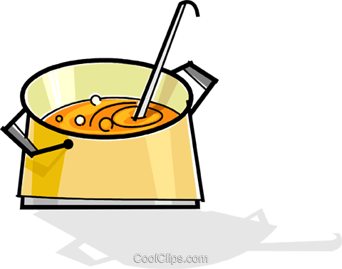 pot of soup Royalty Free Vector Clip Art illustration vc061891