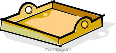 Serving tray Royalty Free Vector Clip Art illustration vc061901