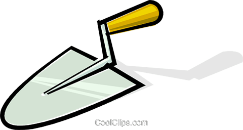 trowel Royalty Free Vector Clip Art illustration vc061902