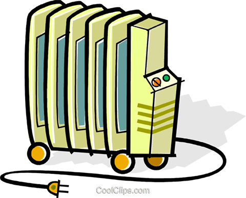 electric radiators Royalty Free Vector Clip Art illustration vc061903
