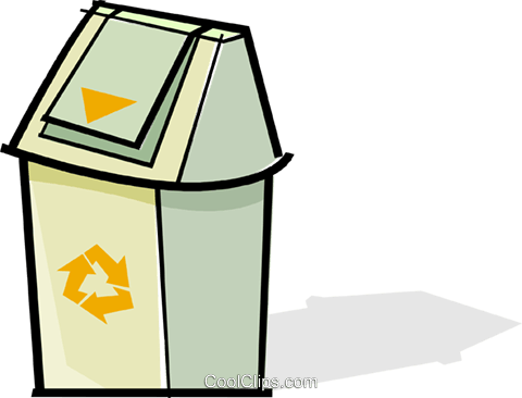 garbage/trash can Royalty Free Vector Clip Art illustration vc061910