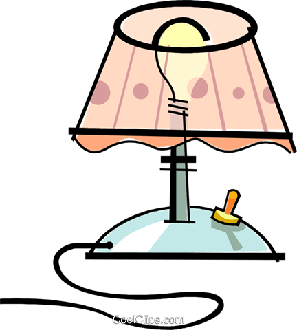 lamp Royalty Free Vector Clip Art illustration vc061911