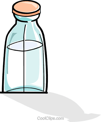 bottle of milk Royalty Free Vector Clip Art illustration vc061919