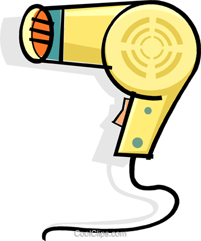 hair dryer Royalty Free Vector Clip Art illustration vc061920