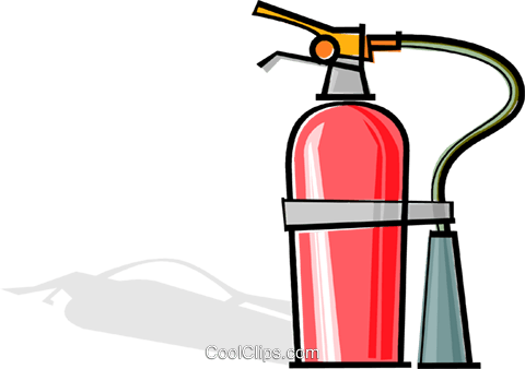 fire extinguisher Royalty Free Vector Clip Art illustration vc061927