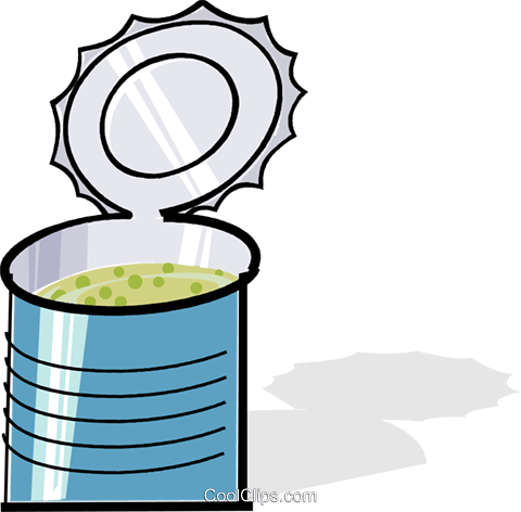 can of soup Royalty Free Vector Clip Art illustration vc061929