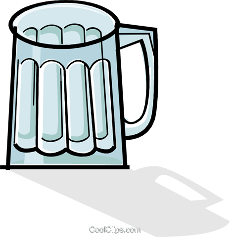 empty beer mug Royalty Free Vector Clip Art illustration vc061931