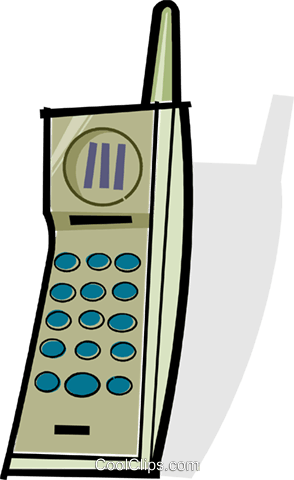 wireless phone Royalty Free Vector Clip Art illustration vc061937