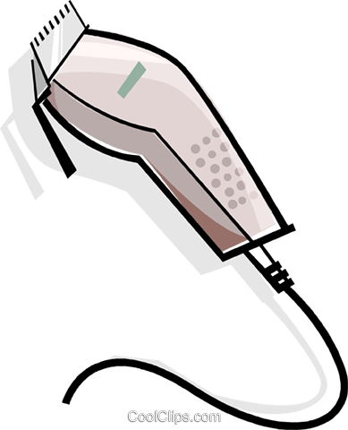 electric clippers Royalty Free Vector Clip Art illustration vc061939