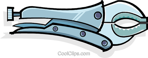vise grips Royalty Free Vector Clip Art illustration vc061941