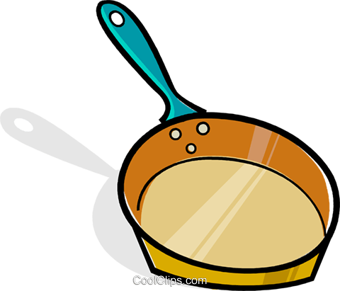 frying pan Royalty Free Vector Clip Art illustration vc061942