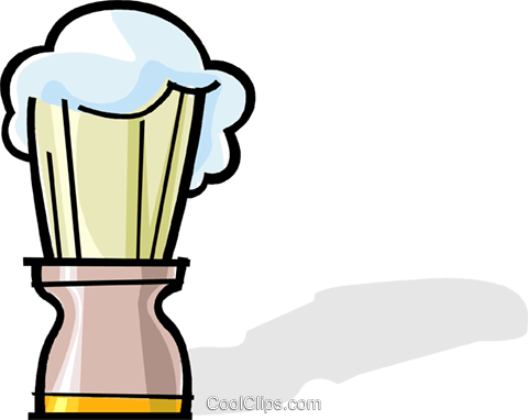 shaving brush Royalty Free Vector Clip Art illustration vc061946