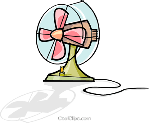 electric fan Royalty Free Vector Clip Art illustration vc061949