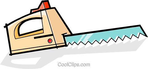 electric knives Royalty Free Vector Clip Art illustration vc061958