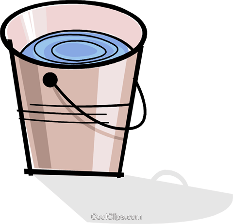 pail/bucket Royalty Free Vector Clip Art illustration vc061962