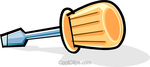 screwdriver Royalty Free Vector Clip Art illustration vc061968