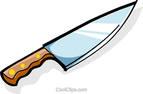 carving knife Royalty Free Vector Clip Art illustration vc061971