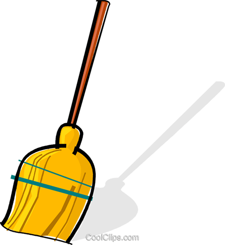 broom Royalty Free Vector Clip Art illustration vc061972