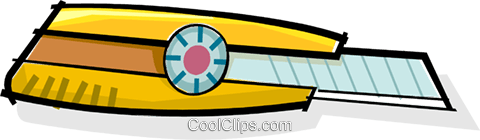 utility knife Royalty Free Vector Clip Art illustration vc061982