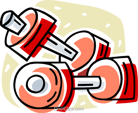 dumbbells Royalty Free Vector Clip Art illustration vc061985