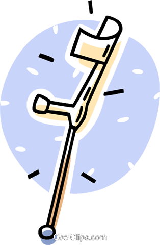 crutches Royalty Free Vector Clip Art illustration vc062000