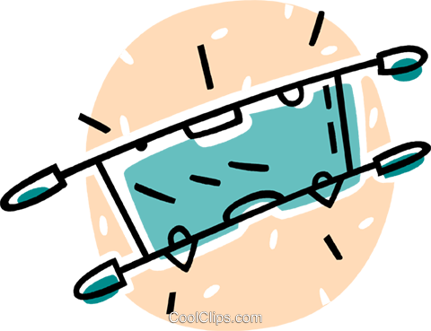 hospital stretcher Royalty Free Vector Clip Art illustration vc062001