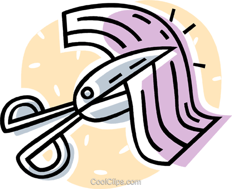 bandage being cut with scissors Royalty Free Vector Clip Art illustration vc062019