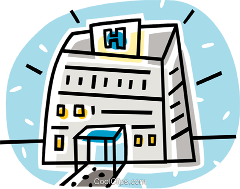 hospital buildings Royalty Free Vector Clip Art illustration vc062037