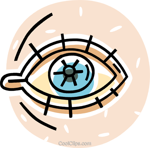 human eye Royalty Free Vector Clip Art illustration vc062041