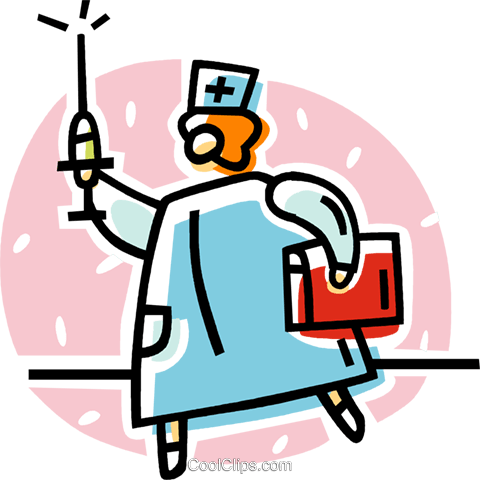 doctor with a needle Royalty Free Vector Clip Art illustration vc062045
