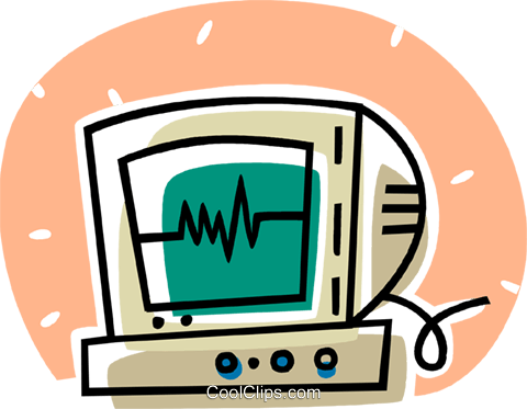 ECG monitor Royalty Free Vector Clip Art illustration vc062053