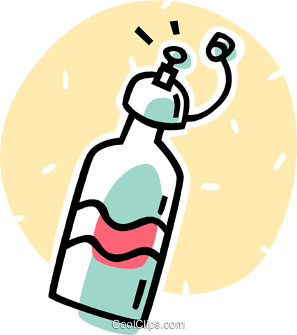 water bottle Royalty Free Vector Clip Art illustration vc062059