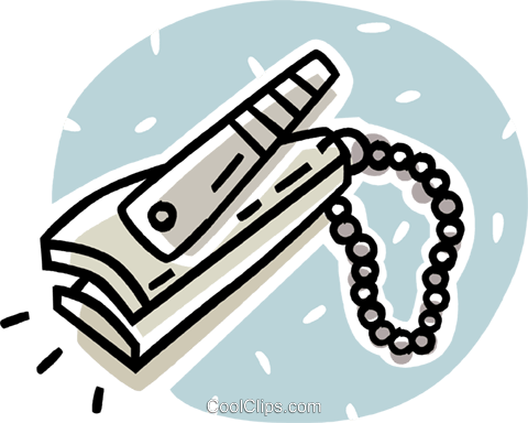 nail clippers Royalty Free Vector Clip Art illustration vc062069