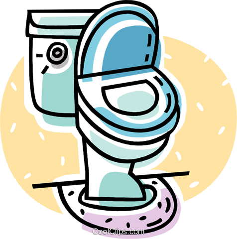 toilet Royalty Free Vector Clip Art illustration vc062078