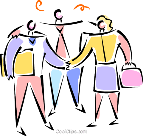man and woman shaking hands Royalty Free Vector Clip Art illustration vc062094