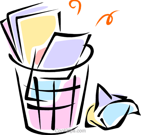 garbage/trash cans Royalty Free Vector Clip Art illustration vc062104