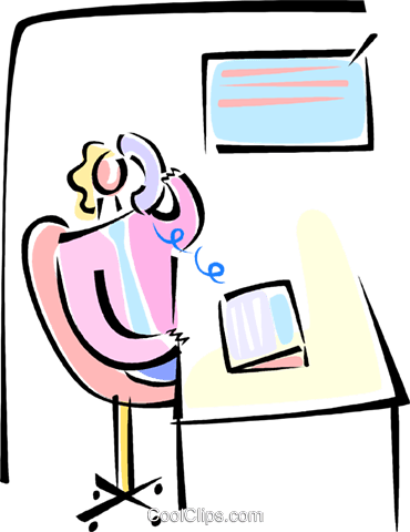 businesswoman on the telephone Royalty Free Vector Clip Art illustration vc062139
